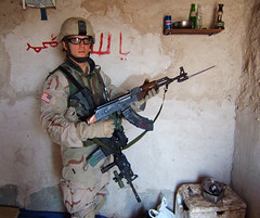 What a beauty! (YourLocalDave) Tags: iraq pipeline weapon ak47 soldier oif