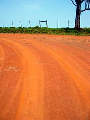 countryroad (joaobambu) Tags: 2005 road red brazil topv111 brasil rural countryside interestingness interesting saturated driving interior sixwordstory dirt estrada countryroad tiretracks drivingwithdad bestfrombrazil drivingwithdad3 amadeuamaral