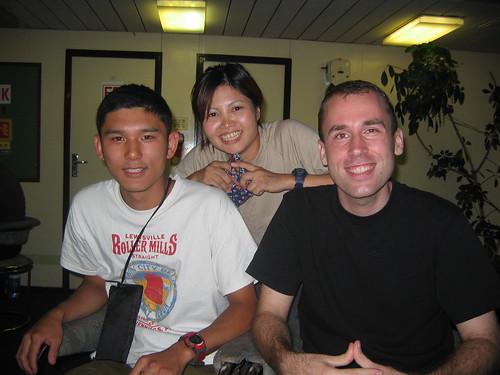 Tomohiko, Etsuko, and I