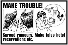 trouble (Mickie Quick) Tags: trouble rumours hotel cia sabotage manual handbook instructions diagrams subversion