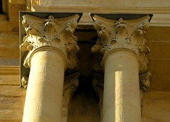 Two columns at christ church (:Linda:) Tags: above shadow two church stone germany town beige capital decoration thuringia onecolor below column sule paraphernalia bicolored hildburghausen buildingdecoration monocolored decorativeelements kapitell zweigegenstnde zweidinge corinthiccolumn