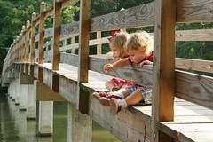 There is no place like home (-Angela) Tags: 2005 bridge summer topf25 canon virginia siblings 50100fav mykids feedingducks 2005top100faves