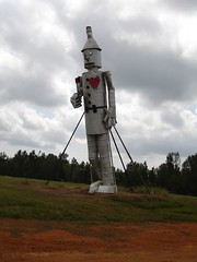 Tin Man w/ Heart at Jim Bird's Hay Creations, Forkland AL