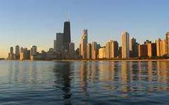 Century City (ElectricSprout) Tags: city usa chicago skyline architecture sunrise dawn illinois skyscrapers lakemichigan il 100th hancock topv3333 interestingness45 i500