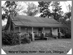 Weaver Family Home in Black and White (Old Shoe Woman) Tags: usa georgia southgeorgia dilosep05 blackandwhite bw oldhome mrweaver familyhome loghouse dilosept05bw dilosept05