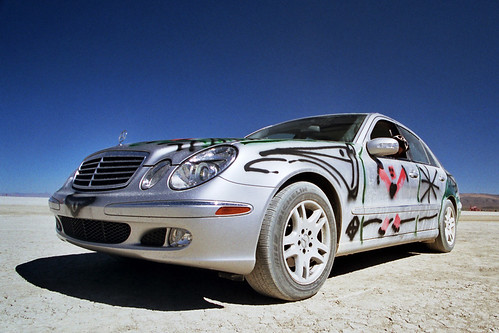 Mercedes Vs Spray Paint at Burning Man