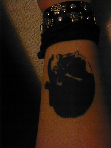 shadow tattoo. I drew this tattoo for my friend Jen Grunwald it's a