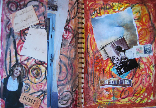 Art pages in my spiral bound book