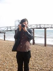 Boudist on the beach