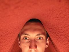 Deka (sjon) Tags: red portrait selfportrait home me flash top20fav