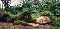 August 1999 Heligan - the green giant sleeps (togetherthroughlife) Tags: sleeping man garden moss woods cornwall sleep bestviewedlarge 1999 jollygreengiant heligan greenman sleepinggiant inthewoods fastasleep lostgarden biggreenman