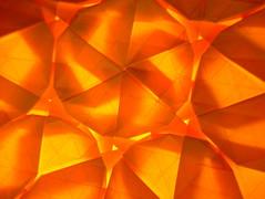 Aztec Twist, tessellated, reverse, backlit (EricGjerde) Tags: lighting orange david art geometric beauty paper tile star artwork triangle origami geometry twist tiles hexagon translucent backlit reverse origomi gjerde tessellation tessellations tesselation tesselations paperfolding papiroflexia stacked magen tiling fav2 layered origamitessellation origamitessellations fav1 折り紙 fav3 iamveryproudofthismodel tassellazione tesselações