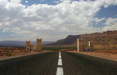 The road to Zagora is paved with good asphalt, Morocco - by Piero Sierra