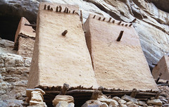 Dogon granaries in Teli