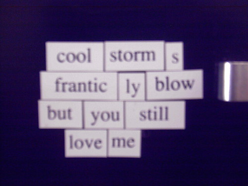 Magnetic Poetry #3