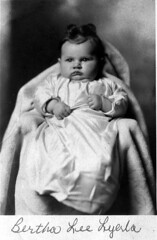 Bertha Lee Lyerla age 3 months (Uncle Jerry in Golden Valley, AZ) Tags: old photos restorations