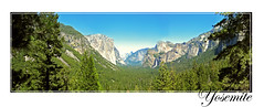 Yosemite from Tunnel View (rohitmordani) Tags: yosemite california tunnel view panorama elcapitan bridalveil falls waterfall half dome pine trees halfdome