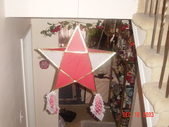 DSC02335 (Faded Photograph) Tags: christmas red white art home stairs star end filipino lantern christmas03 decor parol pinoy favorited onecentshot