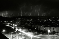 lightnings in Baciu's forest (camil tulcan) Tags: city blackandwhite bw film night analog town blackwhite noir noiretblanc negative romania lightning transylvania et blanc negre rumania cluj clujnapoca noirblanc blancinegre roumanie classiccamera silvergelatin lightnings camiltulcan manastur silvergelatine weisundschwartz silvernegative blackwhiteblanc blancingre