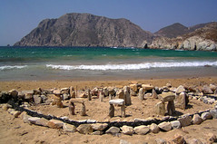 Mini Stonehenge (SunCat) Tags: travel vacation beach all greece stonehenge vacations sacredspace patmos nudebeach psiliammos