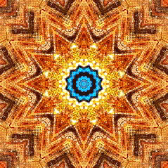 blue sun mandala (omnos) Tags: blue light red orange brown sun color reflection art texture colors ink circle square psp gold radiance halo felt kaleidoscope mandala symmetry fractal drawingbased tweaked brilliant markers metamorphosis top20artfx pixelated magician onblack omnos lovely3 mostcomments interestingness236 i500 explore15oct05