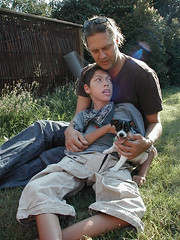 The New Oskar (Liselotte) Tags: dog puppet boy man dad son