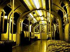 unoccupied (ives*) Tags: underground tube subway empty yellow centralline bigcalm