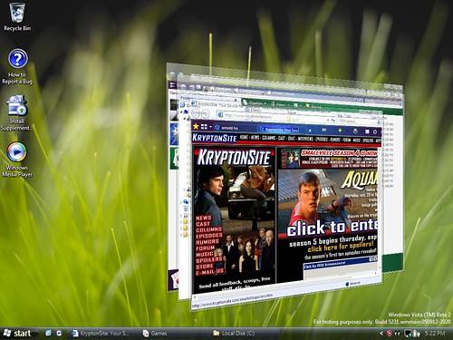 Flip3D In Windows Vista