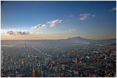 a great city (*dans) Tags: city mountain clouds river taiwan taipei taipei101    skyplay    danielmshih  top20taiwan flickawardr
