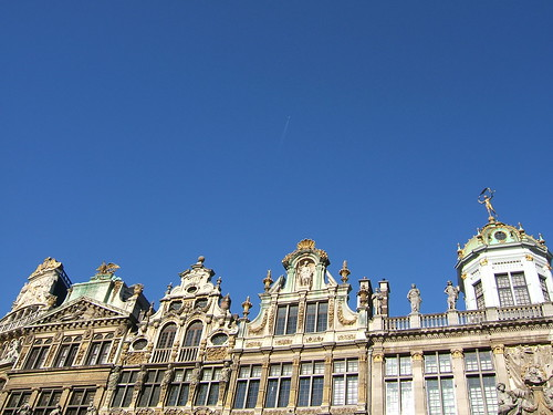 Guild houses on the Grand Place, Brussels by WordRidden.