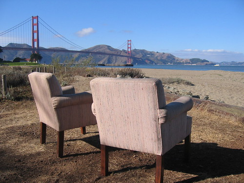 Two Chairs at the Golden Gate Bridge