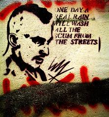 the scum from the streets (wacky doodler) Tags: uk streetart london graffiti stencil scum shoreditch bricklane wackydoodler