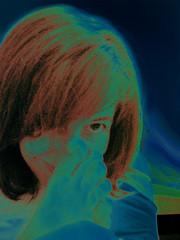 Elastic blue girl (Lou Rouge) Tags: 2005 blue selfportrait me yoga self song miradas lourouge mrtheauteurs mc05negativespace mrdcomplicidad