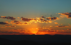Sunset in Shenandoah 1 (VJ_fliks) Tags: sunset orange clouds mountains valley dusk sky blue amazing fantastic amateur nikond70 d70 nikon color nature ilovenature usa va shenandoah shenandoahvalley nationalpark 510fav