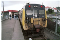 EMU at Johnsonville station , Wellington , NZ 1997 (hiromori) Tags: newzealand train railway wellington northisland 1997 旅行 johnsonville ニュージーランド 北島