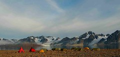 01.09 am (Wen Nag (aliasgrace)) Tags: camp mountain colour norway peace tranquility tent calm svalbard arctic top20landscape bigcalm midnightsun raudfjorden
