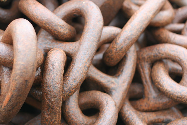 Close-up image of some brown-ish chain