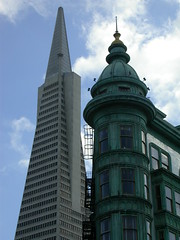 Transamerica and uh... that other building (delgaudm) Tags: sanfrancisco transamerica zoetrope copper green architecture northbeach tourist sentinel