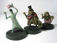 Haunted Mansion miniatures: hitckhiking ghosts (WEBmikey) Tags: toys disney hauntedmansion hmfigures