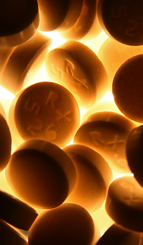a macro close up of pills