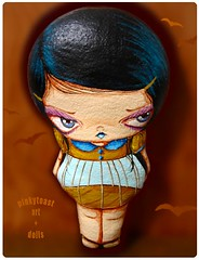 shor birdcage doll felt (pinkytoast) Tags: doll handmade mos pinkytoast girl bigeyed toy