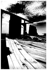 Stage (Jeff T. Alu) Tags: photoshop black white digital salton sea desert building old surreal moody lonely dark outdoors bleak blackandwhite deserted illusion zen medetation medetate power impact graphic doom bright earthy dirt gritty intense visionary heat passion 4x4 remote california desolate dreamy nightmare euphoric