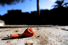 Always look on the bright side of life (razorbern) Tags: sanfrancisco orange balloon topf400
