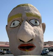head big bighead thebighead yuma arizona advertising portable sign signage gimmick faded