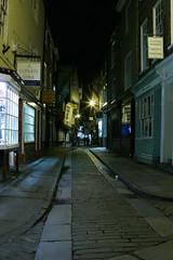 Shambles at Night (Davoud D.) Tags: street york old uk england night yorkshire shambles cobbles northyorkshire theshambles