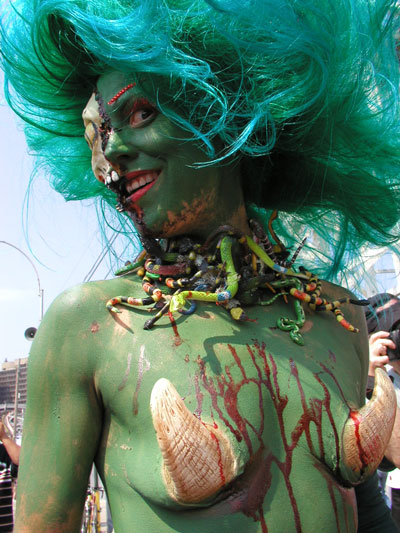 Whitney at the Mermaid Parade