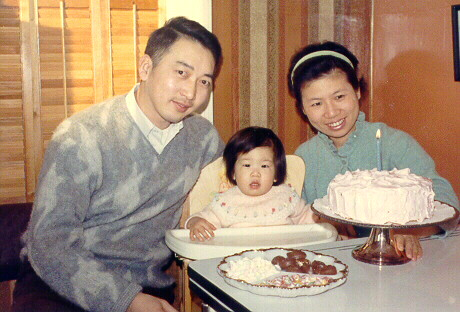 Angela's first birthday 1968