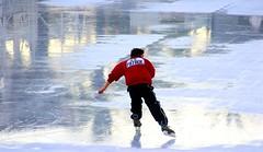 Ice Patrol (Thomas Hawk) Tags: sanfrancisco california city usa man ice unitedstates iceskating unitedstatesofamerica skating icerink skate embarcadero patrol justinhermanplaza