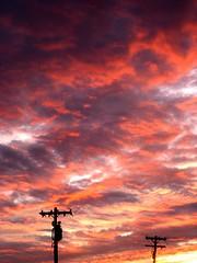 (Lanna Grace) Tags: sunset top20nature clouds pink orange yellow purple sun power lines electric amazing amaze divine top20sunset top20sunrisesunset