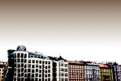 dancing (sam b-r) Tags: sky color architecture buildings prague praha praga czechrepublic frankogehry dancinghouse s51900777 fredandgingerbuilding nationalenederlandenbuilding studiovladomilunic sambrimages